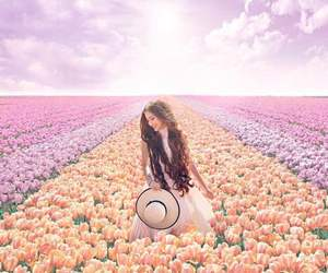 amazing, girl, and nature image