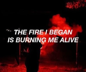 red, aesthetic, and fire image