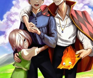howl's moving castle, yoi, and yuri on ice image