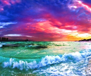 beach, colorful, and ocean image