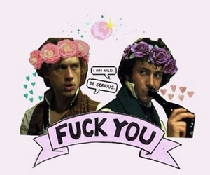 drink, grantaire, and flower crown image