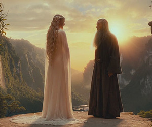 the hobbit and galadriel image