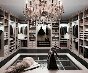 chandelier, closet, and glamorous image