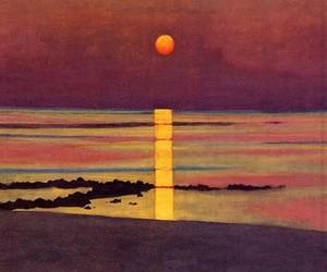 art, sunset, and nature image