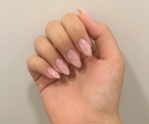 nail art, nails, and pink nails image