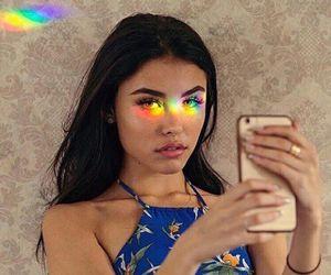 madison beer, rainbow, and beauty image
