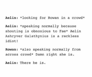 funny, rowan, and throne of glass image