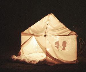 tent, light, and night image