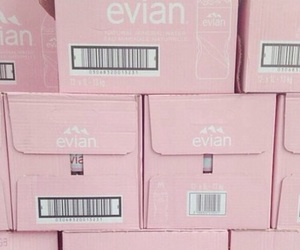 pink, evian, and aesthetic image