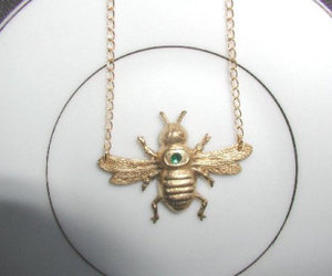 bee jewelry, bumble bee necklace, and bee necklace image