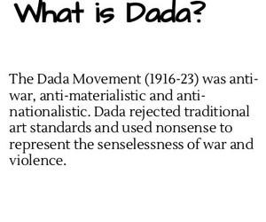 anti-war, art, and dada image