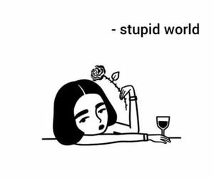 girl, world, and art image