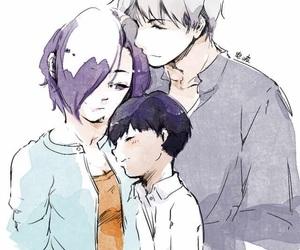 anime couples, kaneki ken, and touka kirishima image