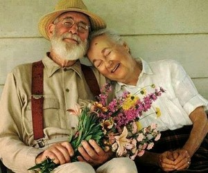 couple, love, and flowers image