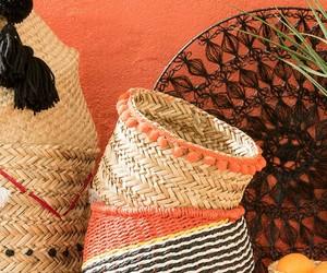 baskets, orange, and home decor image