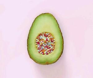 avocado, pink, and green image