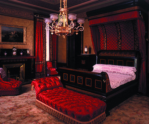 bedroom, decor, and victorian image