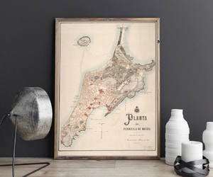 asia, map, and old maps image
