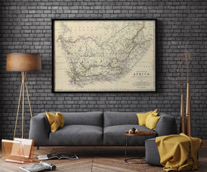etsy, south africa, and old map image