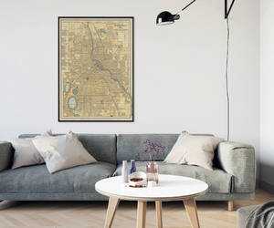 etsy, minneapolis, and old map image