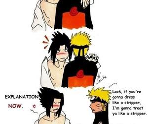 comic, funny, and sasuke uchiha image