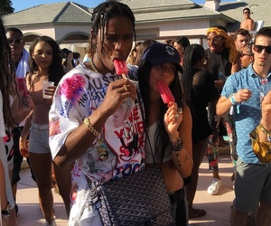 asap rocky, zoe kravitz, and coachella image