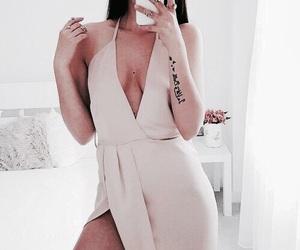 dress, fashion, and tattoo image