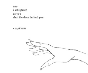 rupi kaur, quotes, and poetry image