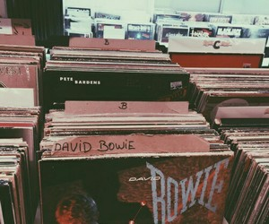 music, vintage, and records image