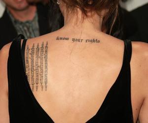 Angelina Jolie, tattoo, and back image