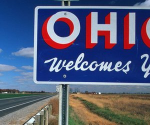 ohio, road, and sign image