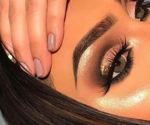 eyebrows, highlight, and makeup image