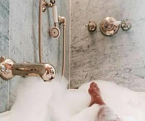 bath, gold, and bubbles image