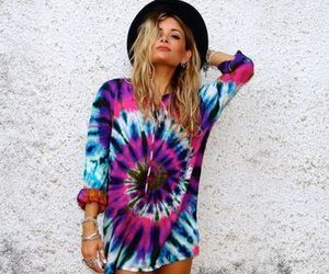 fashion, hippie, and tie dye image