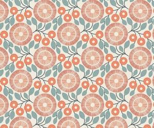 floral, orange, and pattern image