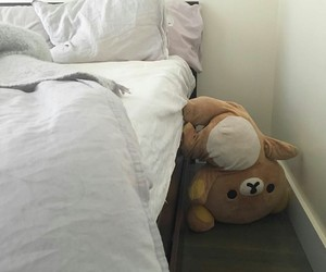 bear, aesthetic, and bed image