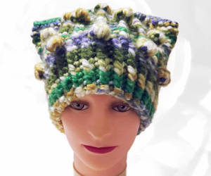 etsy, purple hat, and yellow hat image