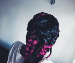 black girl, braids, and purple hair image