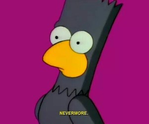the simpsons, bart simpson, and crow image