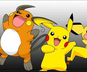 pichu, pikachu, and raichu image