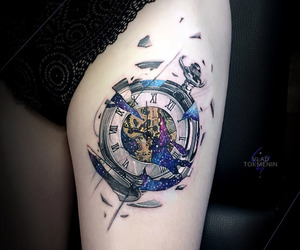 clock, ink, and inked image