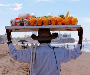 beach, fruit, and mexico image