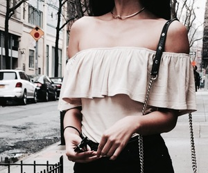 fashion, girl, and off shoulders image