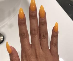 long, nails, and peach image