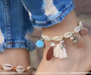 ankle bracelet, anklets, and enkelbandjes image