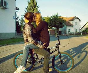kiss, bike, and boy image