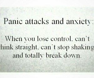 anxiety, sad, and panic attack image