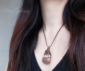amulet, tree of life, and copper jewelry image