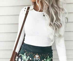 hair, outfits, and skirt image