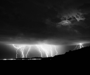 black, lightning, and nature image